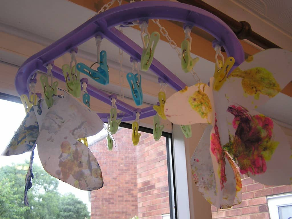 Drying Butterflies flying in the room