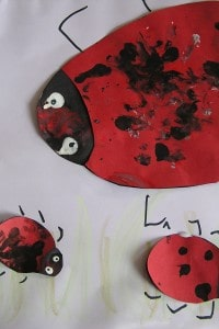 Ladybug craft for toddlers to make