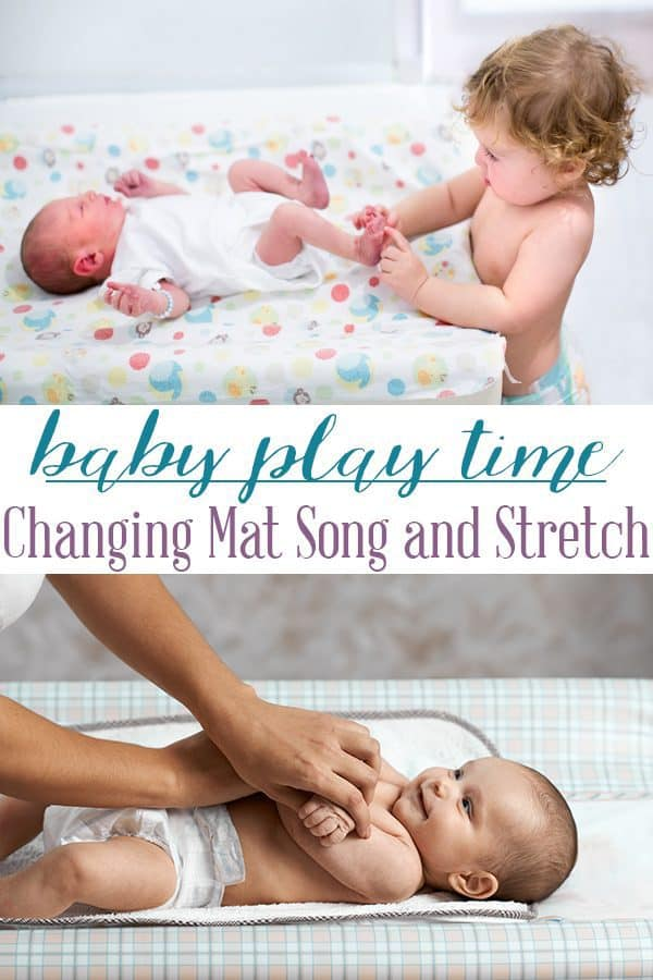 Make changing time fun time with your newborn baby as you play this simple stretching and singing game. If you have older children too get them to join in as you sing along with Head Shoulders Knees and Toes and play together.