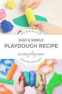 easy and simple no cook playdough recipe to make on rainy days