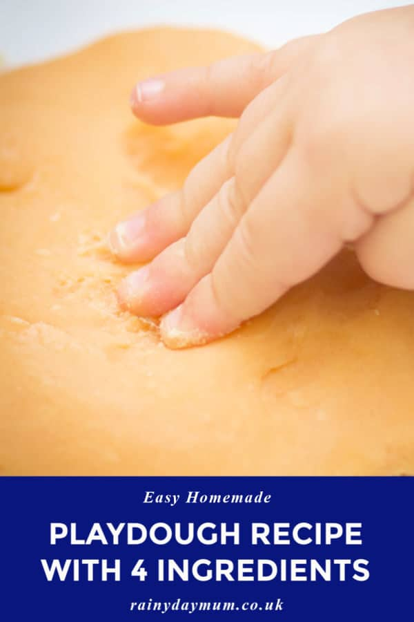 easy homemade playdough recipe with just 4 ingredients
