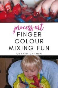Prcoess Art Finger Colour Mixing Fun for Babies and Toddlers