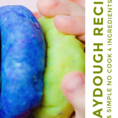 Best No-Cook Homemade Playdough Recipe with Ingredients you Already Have!