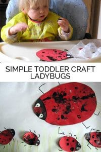 Ladybug craft for toddlers to make