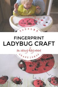 toddler craft ideas fingerprint ladybirds on rainy day mum