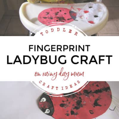 Simple Fingerprint Ladybird Craft for Toddlers to Make