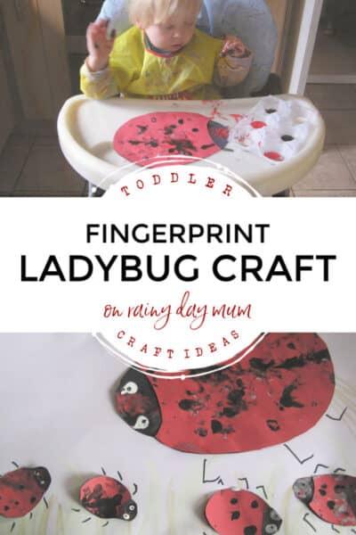 toddler craft ideas fingerprint ladybirds on rainy day mum