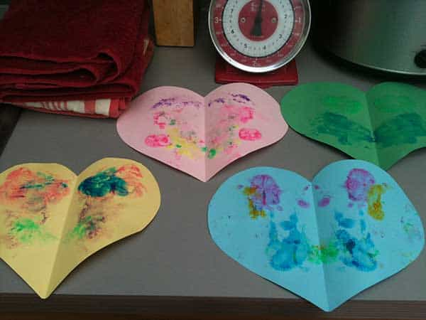 Valentines Day Hearts for Toddlers to make