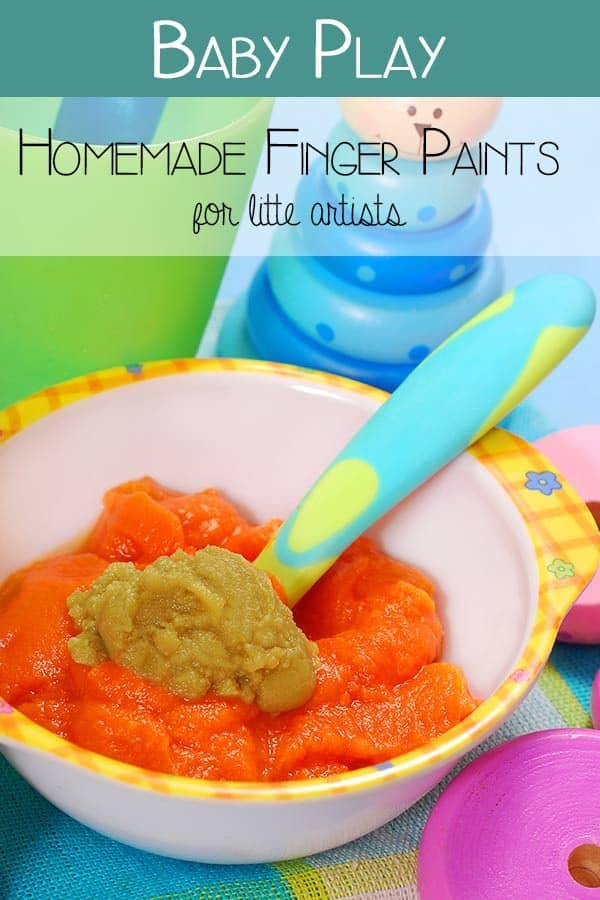 Babies first paints - recipes for paints to use with babies to explore art and painting with them