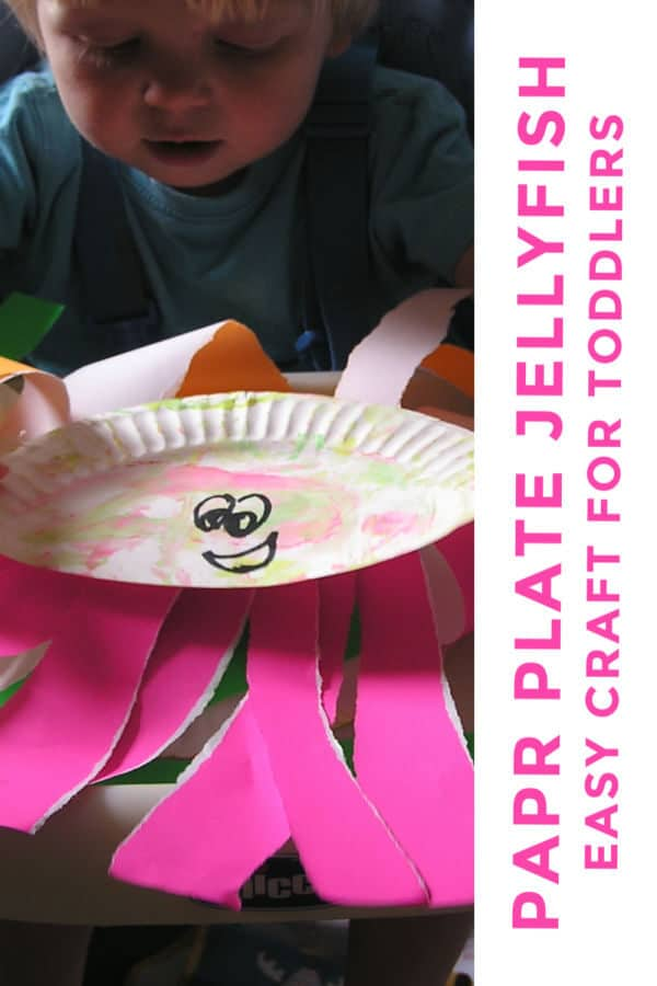 paper plate jellyfish craft for toddlers