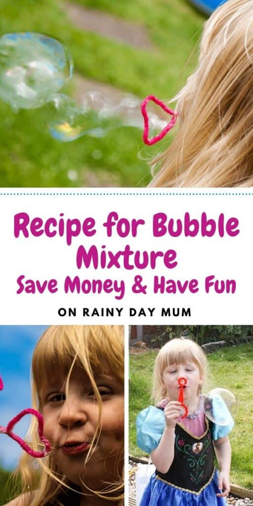 recipe for bubble mixture