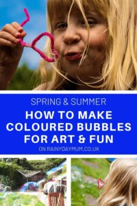 how to make coloured bubble for art and fun