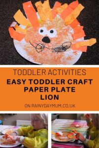 Easy Toddler Paper Plate Lion Craft to Make