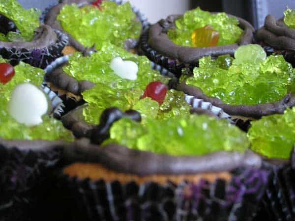 Halloween recipe for spooky cupcakes