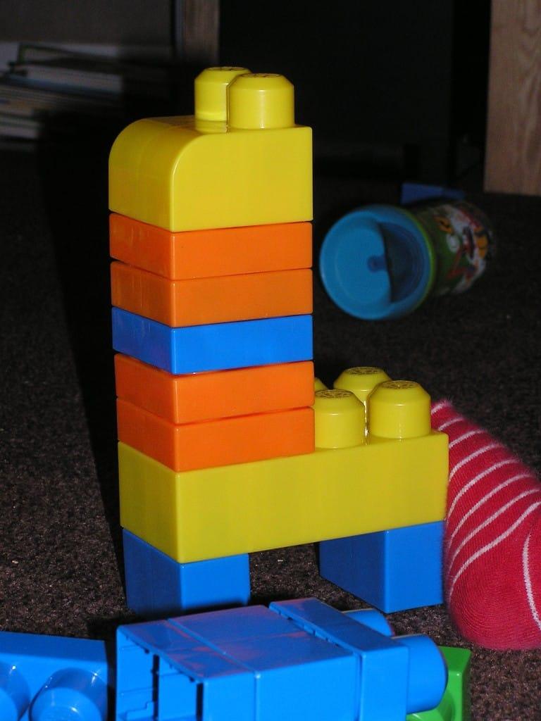 Using blocks to build animals