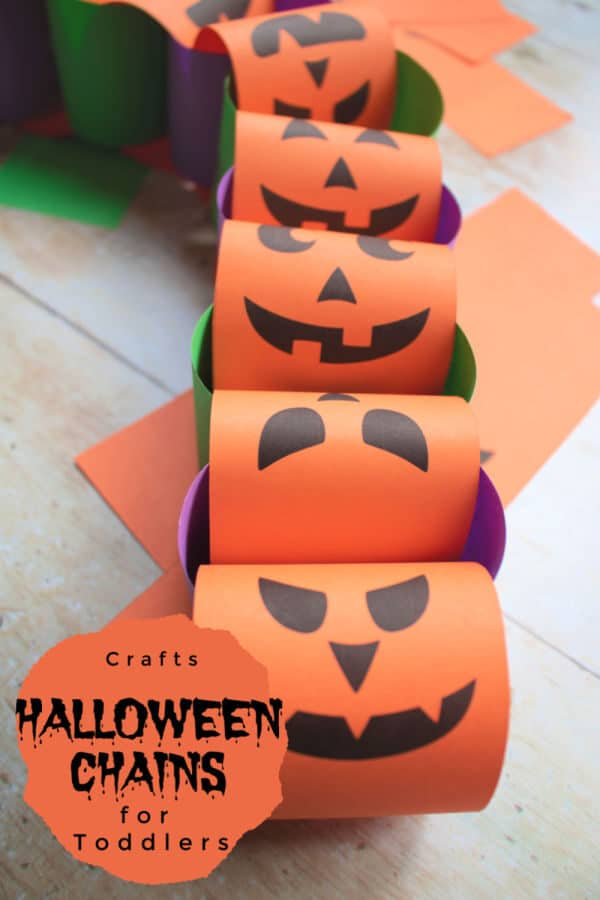 halloween paper chains with free printable easy craft for kids from toddler upwards