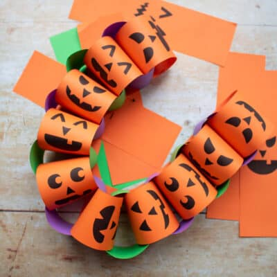 Halloween Paper Chain Craft for Kids