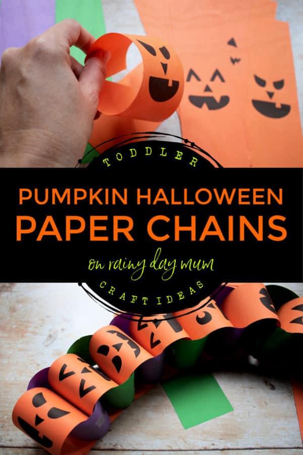 Pumpkin Halloween Paper Chains
