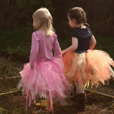 how to make a no-sew tutu for kids