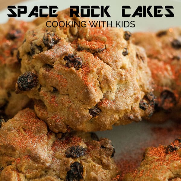 A space themed cooking activity making space rock cakes. These are easy to make with your toddler and preschoolers and taste great.