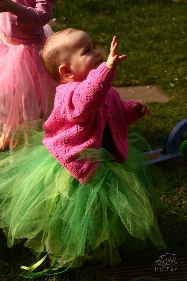 toddler in a hand-made tutu