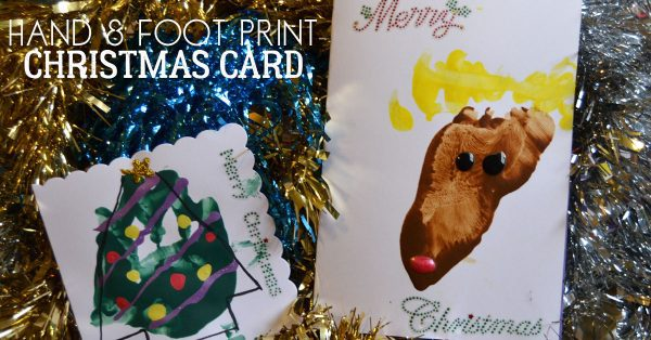 baby and toddler hand and footprint cards for baby's first christmas