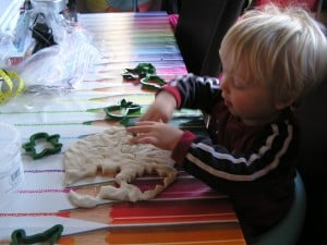 Salt dough decorations for Christmas