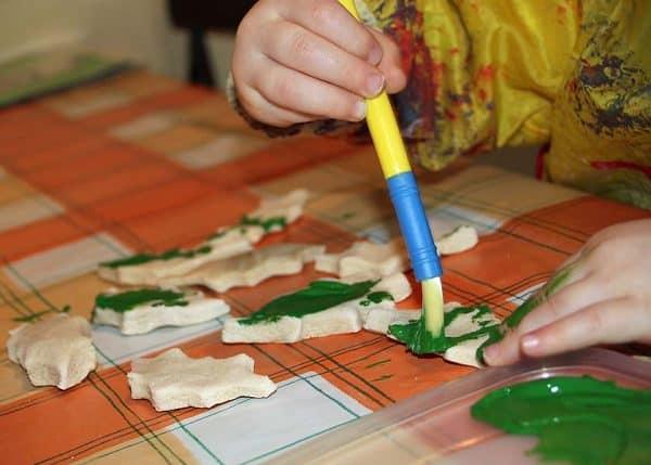 Salt Dough Decorations - fun Christmas Craft for Toddlers