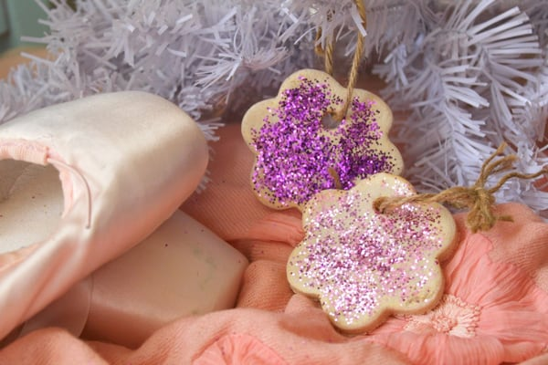 pretty glitter salt dough decorations a simple Christmas craft for Toddlers to Make
