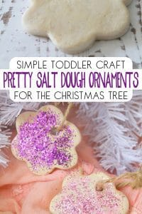 Pretty Salt dough decorations a simple way to connect and create with your toddlers during the festive season perfect for easy Christmas Crafts