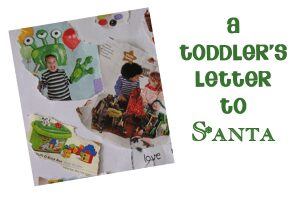 a toddler letter to santa