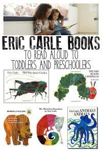 Eric Carle books ideal for Toddlers and Preschoolers