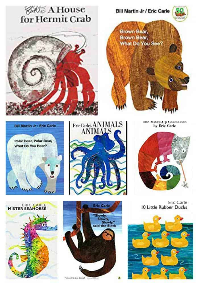Animal books by Eric Carle ideal for Toddlers and Preschoolers