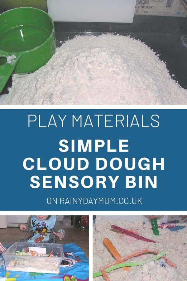 play materials simple cloud dough recipe