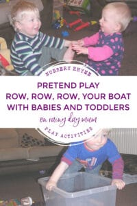 Row Row Row Your Boat Nursery Rhyme Imaginative Play for Babies and Toddlers