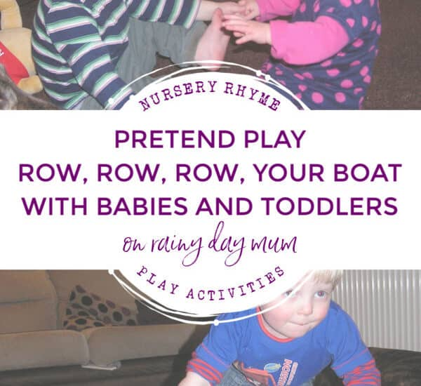 pretend play row row row your boat with babies and toddlers