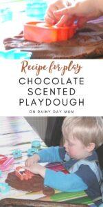 Recipe for play - homemade chocolate playdough