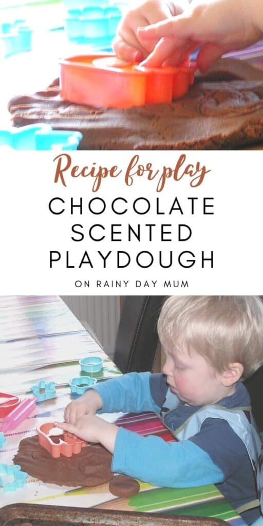 Recipe for play - homemade chocolate playdough