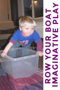Row your boat imaginative play for toddlers and babies that can sit unaided