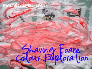 Shaving Foam Colour Exploration