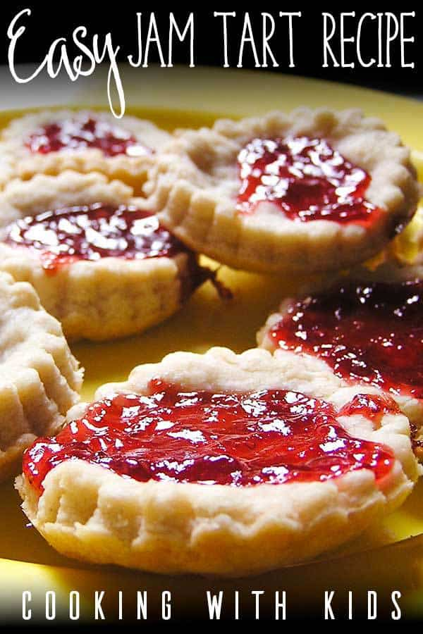 Easy Jam Tart Recipe to Cook with Toddlers and Preschoolers