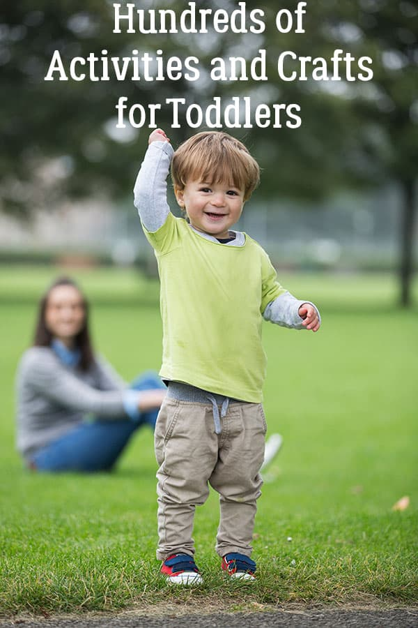 Keep your little tots occupied with this HUGE selection of Activities and Crafts for Toddlers