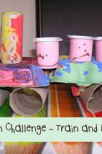 Egg Carton Challenge – Choo Choo Train and passengers
