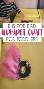 ABC craft for toddlers - b is for bird