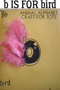 B is for Bird – Animal Letter Craft for Toddlers
