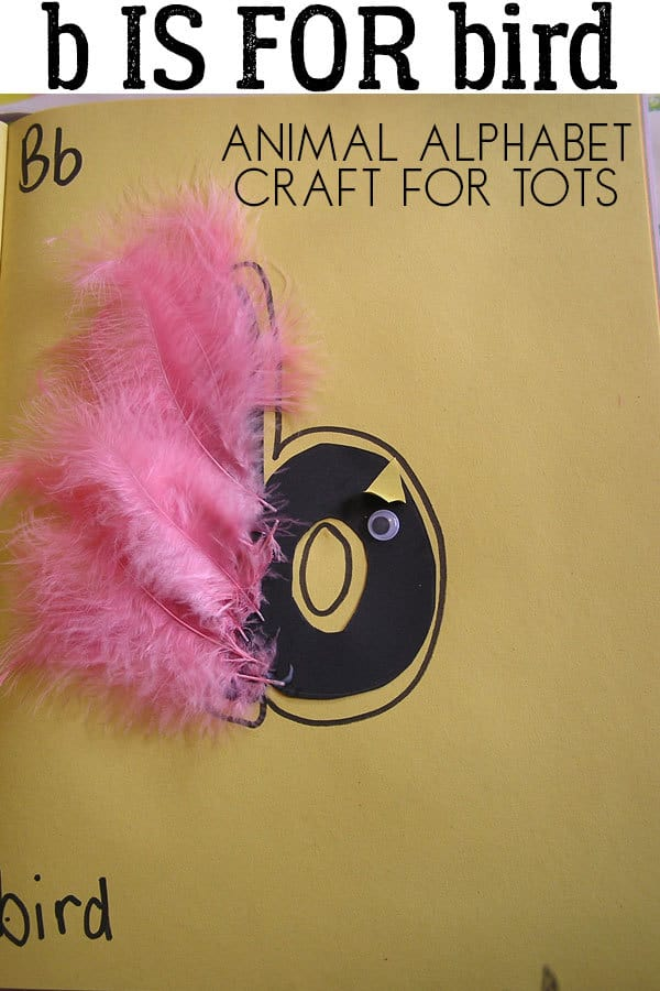 B Is For Bird Animal Letter Craft For Toddlers To Make