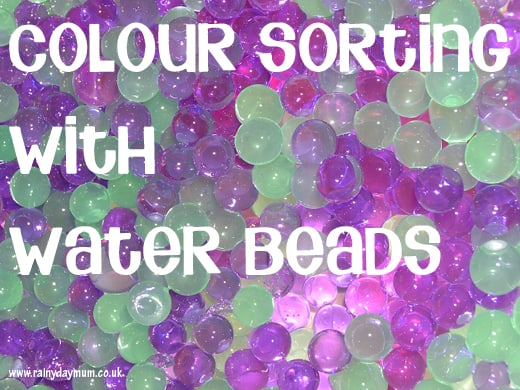 Color Sorting with water beads