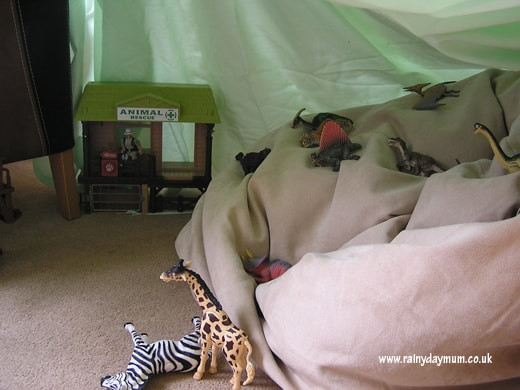 Homemade fort
