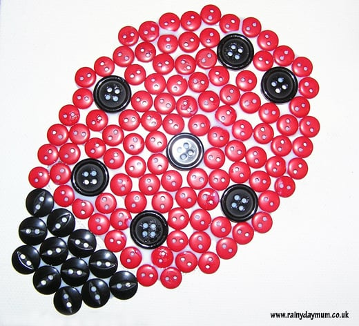 Ladybug button canvas art