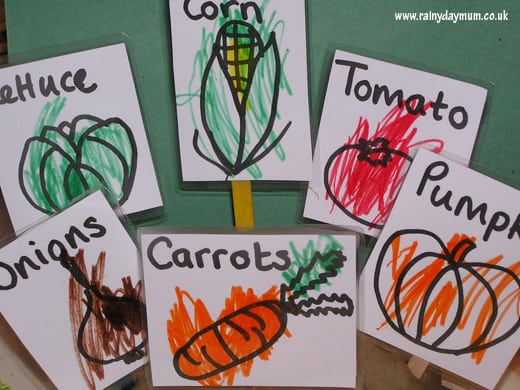 Gardening with Book - The Carrot Seed, bringing books alive through gardening and learning